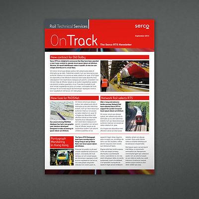 Serco RTS E-newsletter design