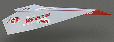Virgin Money Paper Plane Design