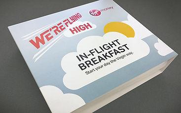 Virgin Money In Flight Breakfast Desk Drop