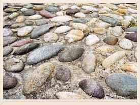 the beauty of cobblestone: uneven paths