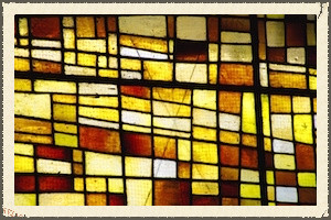 a lack of transparency: stained glass