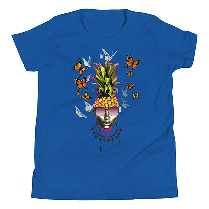 Anana Pineapple Girl designed by Loko Nation Youth Short Sleeve T-Shirt