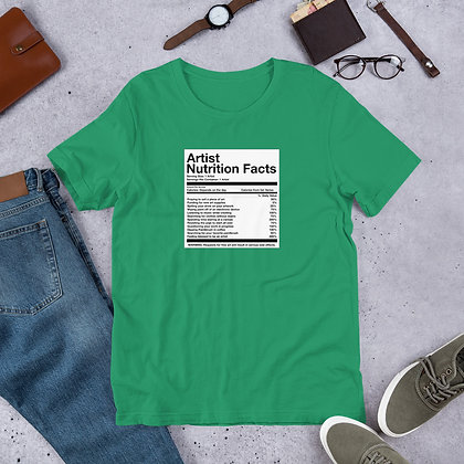 Artist Nutrition Facts Funny Humor Short-Sleeve Unisex T-Shirt
