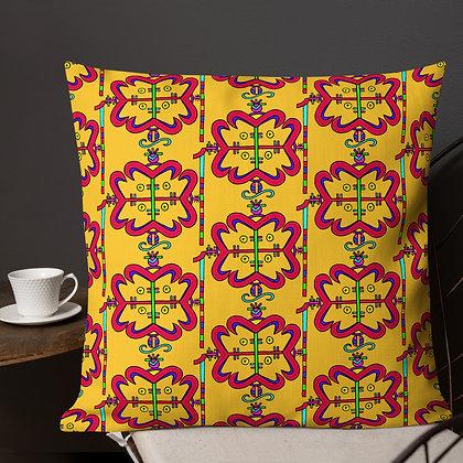 Papa Legba Rainbow Veve Marigold Premium Pillow