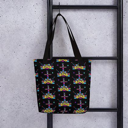 Baron Samedi Rainbow Veve Pattern Tote bag