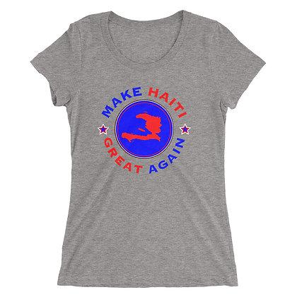 Make Haiti Great Again Ladies' short sleeve t-shirt