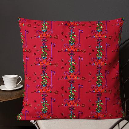 Papa Loko Rainbow Veve Red Premium Pillow