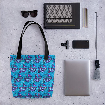 Agwe Veve Graphic Colorful Tote bag | Women's Fashion | African Prints
