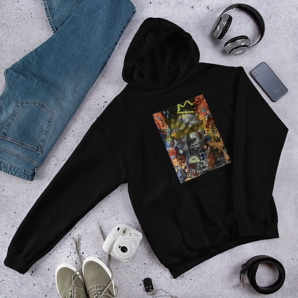 Jean Michel Basquiat designed by Christina Schultz Unisex Hoodie