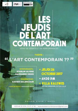 Premiere edition:  Les Jeudis de l'art contemporain | 26 Octobre 2017