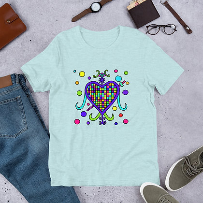 Erzulie Dantor Rainbow Veve Graphic Short-Sleeve Unisex T-Shirt