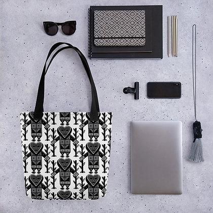 Gran Bwa Veve Black and White Pattern Haiti Tote bag