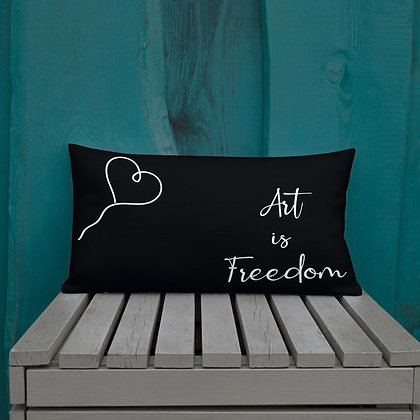 Art is Freedom Gifts for Artists Premium Pillow