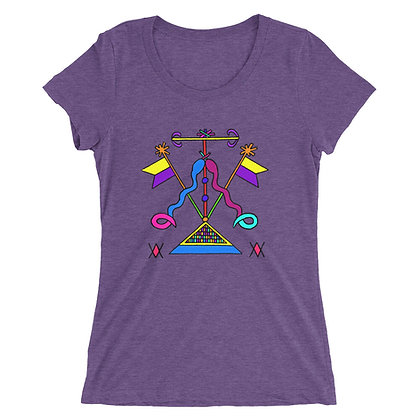 Damballa & Ayida Wedo Veve Ladies' short sleeve t-shirt