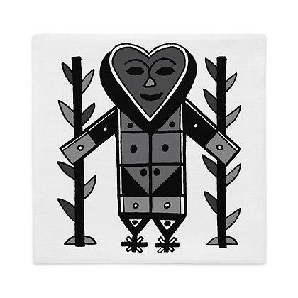 Gran Bwa Black and White Veve Graphic Pattern Haiti Premium Pillow Case