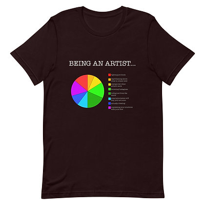 Being an Artist Funny Humor Pie Chart Short-Sleeve Unisex T-Shirt