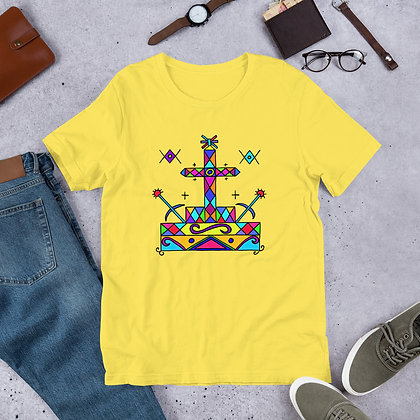 Baron Samedi Rainbow Veve Pattern Short-Sleeve Unisex T-Shirt