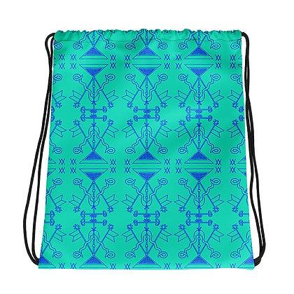 Damballah & Ayida Wedo Veve Colorful Pattern Drawstring bag | African Prints