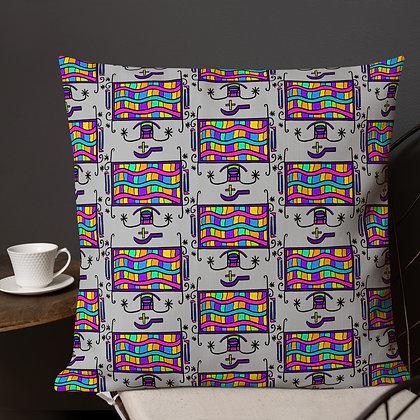 Zaka Rainbow Veve Gray Premium Pillow