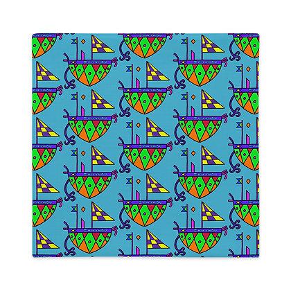 Agwe Rainbow Veve Turquoise Premium Pillow Case