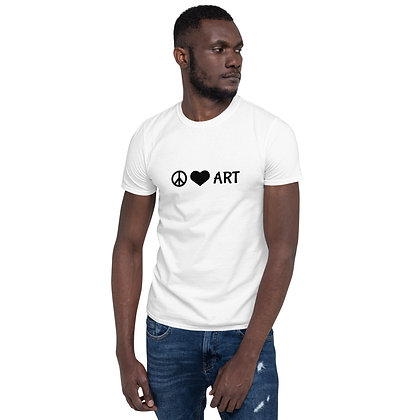 Peace, Love, & Art Short-Sleeve Unisex T-Shirt