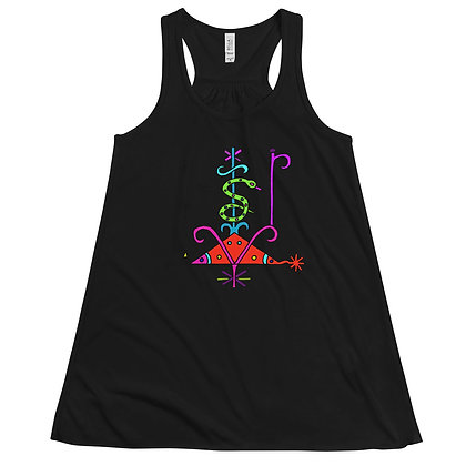 Papa Loko Veve Rainbow Women's Flowy Racerback Tank