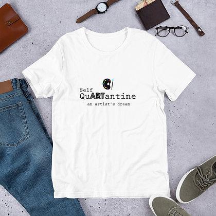 Self Quartantine Art Meme Funny Short-Sleeve Unisex T-Shirt