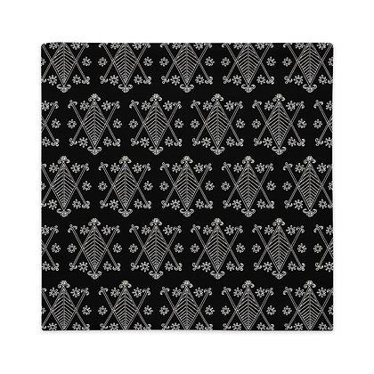 Ayizan Veve Pattern Black and White Premium Pillow Case | Haiti