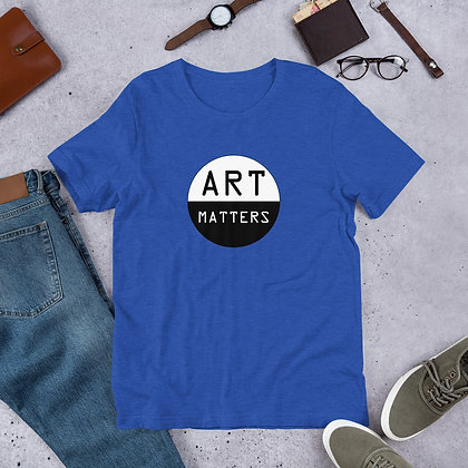 Art Matters Black and White Graphic Funny Gift Short-Sleeve Unisex T-Shirt