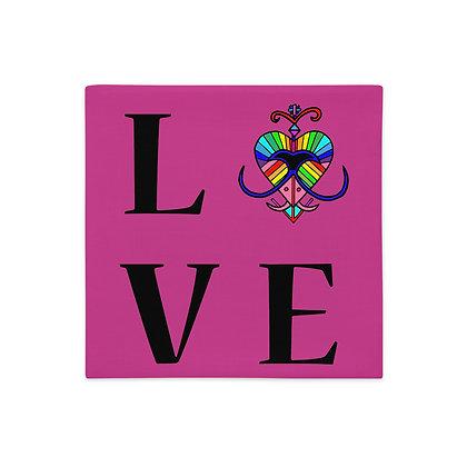 Colorful Veve Rainbow Haiti Premium Pillow Case