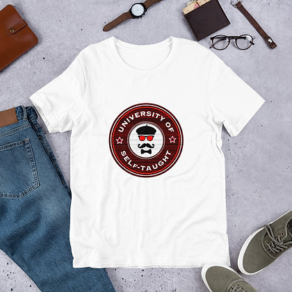 University of Self-Taught Funny Artist Humor Short-Sleeve Unisex T-Shirt