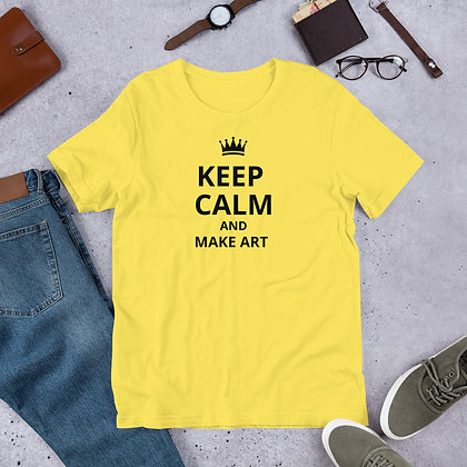 Keep Calm and Make Art Artist Gift Short-Sleeve Unisex T-Shirt