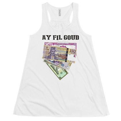 Ay Fil Goud designed by Loko Nation Women's Flowy Racerback Tank