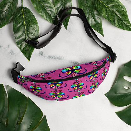 Colorful Heart Rainbow Erzulie Veve Haiti Fanny Pack