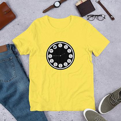 The Artist's Clock Funny Humor Tshirt Short-Sleeve Unisex T-Shirt