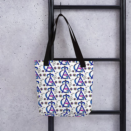Agassou Rainbow Veve Pattern Tote bag