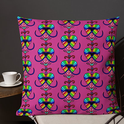 Erzulie Rainbow Veve Magenta Premium Pillow
