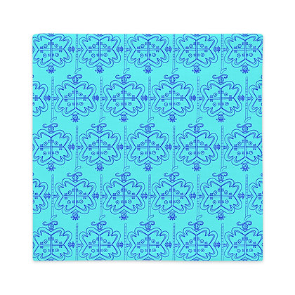 Papa Legba Veve Pattern Graphic Teal Blue Premium Pillow Case