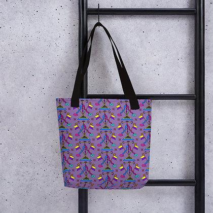 Ayida Wedo Rainbow Veve Pattern Tote bag