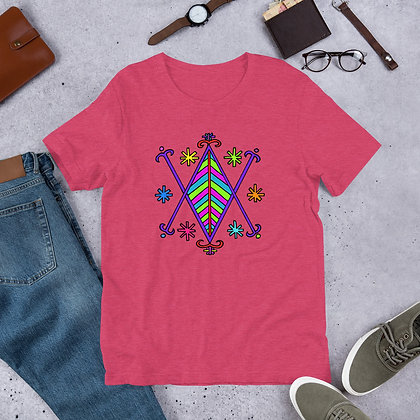Ayizan Rainbow Veve Graphic Haiti Short-Sleeve Unisex T-Shirt