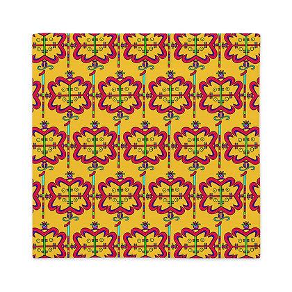 Papa Legba Rainbow Veve Marigold Premium Pillow Case