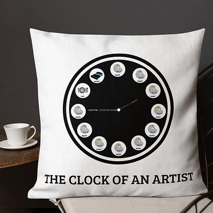 The Clock of an Artist Art Meme Gifts for Artists Premium Pillow