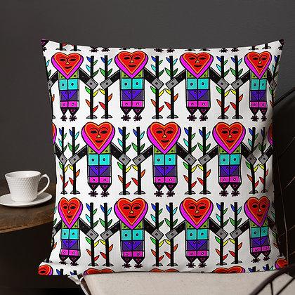 Gran Bwa Rainbow Veve White Premium Pillow