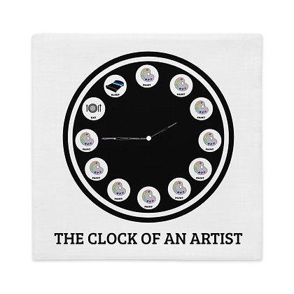 The clock of an artist Funny Art Meme Gifts for Artist Premium Pillow Case