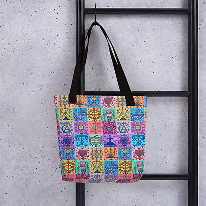 Colorful Veve Pattern Tote bag