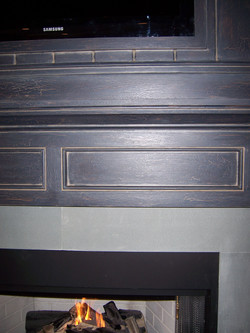 Crackled Fireplace Detail