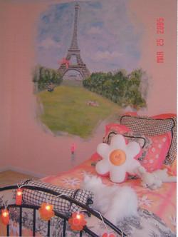 Tower in Little Girls Bedroom