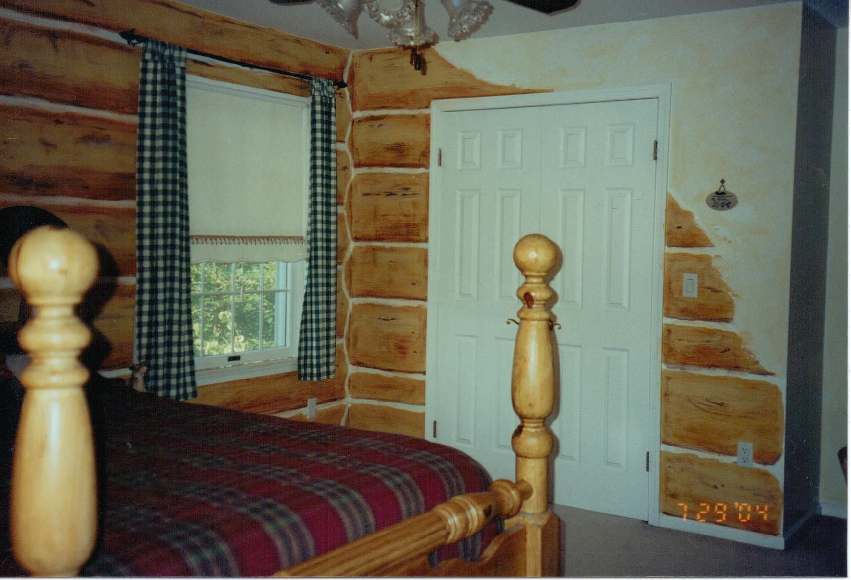 Faux Log Cabin
