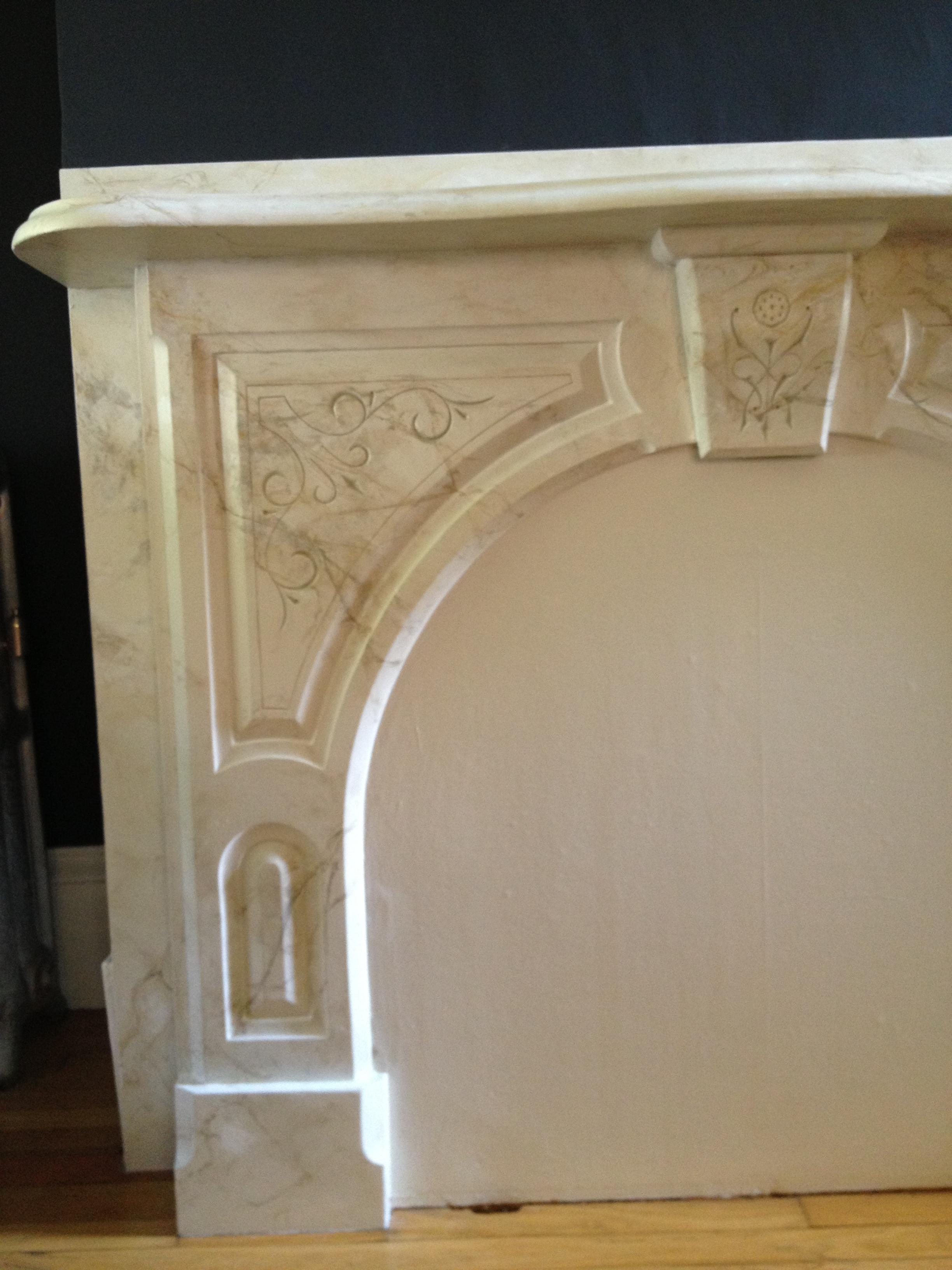 Fauxed Fireplace