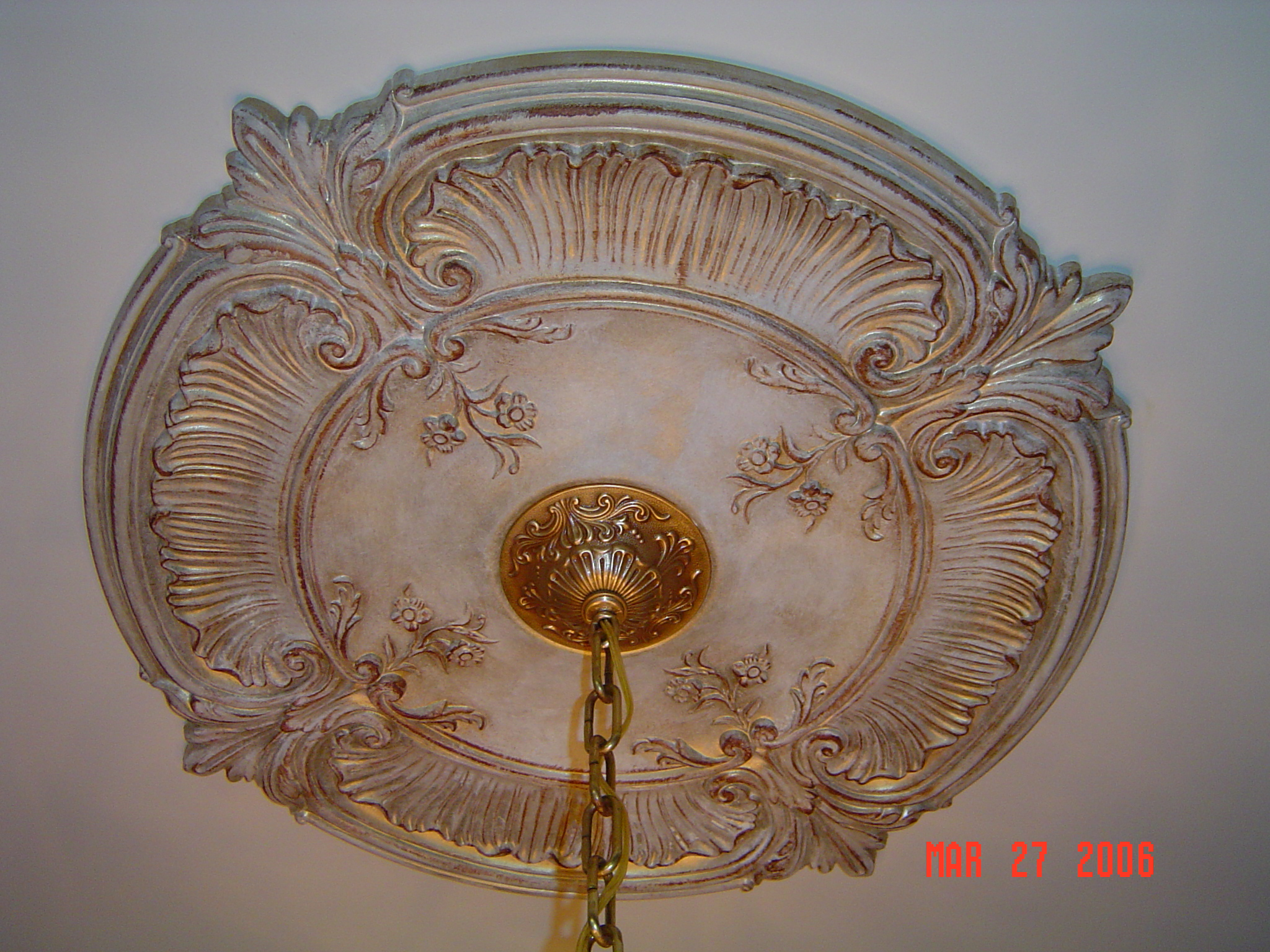 Gold Gilded Ceiling Medallion